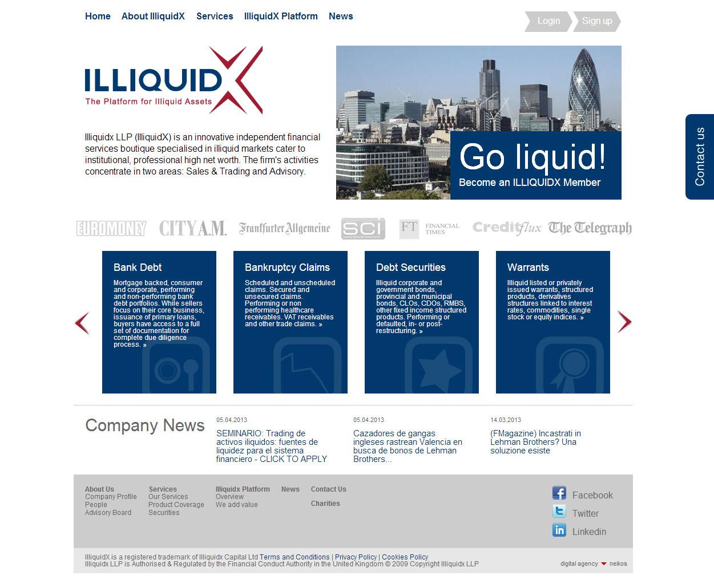 Illiquidx, progetto digitale