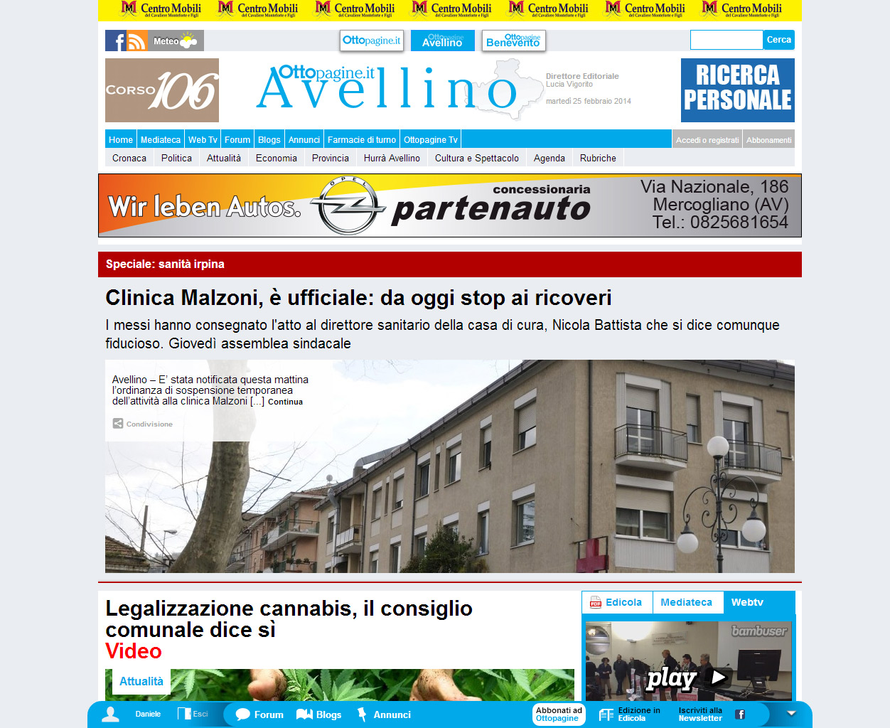 Ottopagine, quotidiano locale