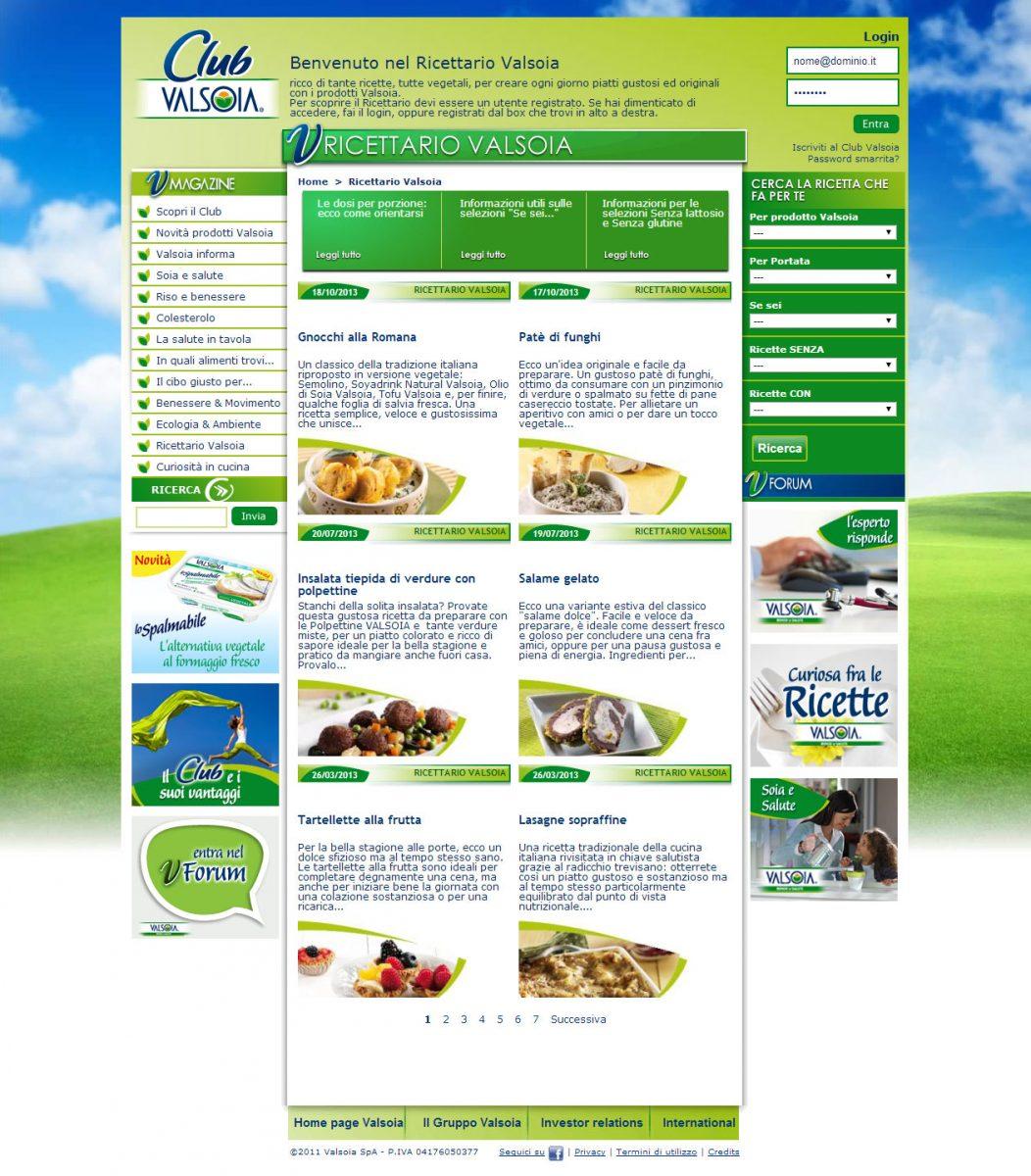 Valsoia, catalogo prodotti alimentari salutistici