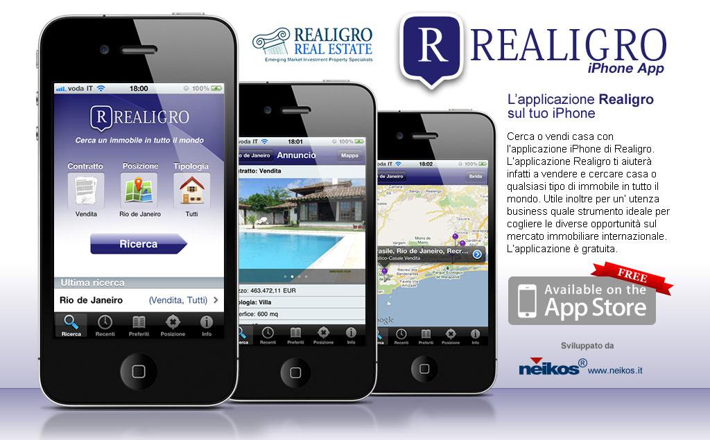 Realigro Mobile, iphone App