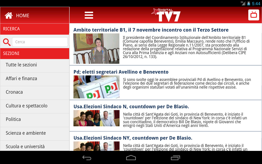 TV7 Benevento – App mobile