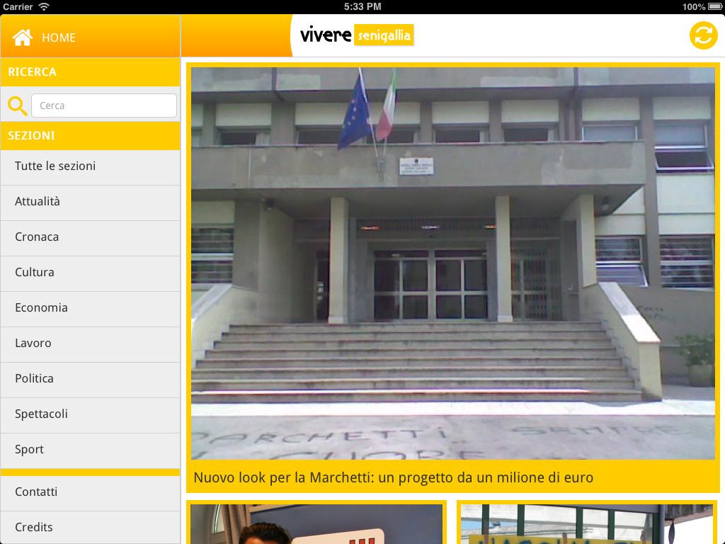 Vivere Senigallia, testata giornalistica – App