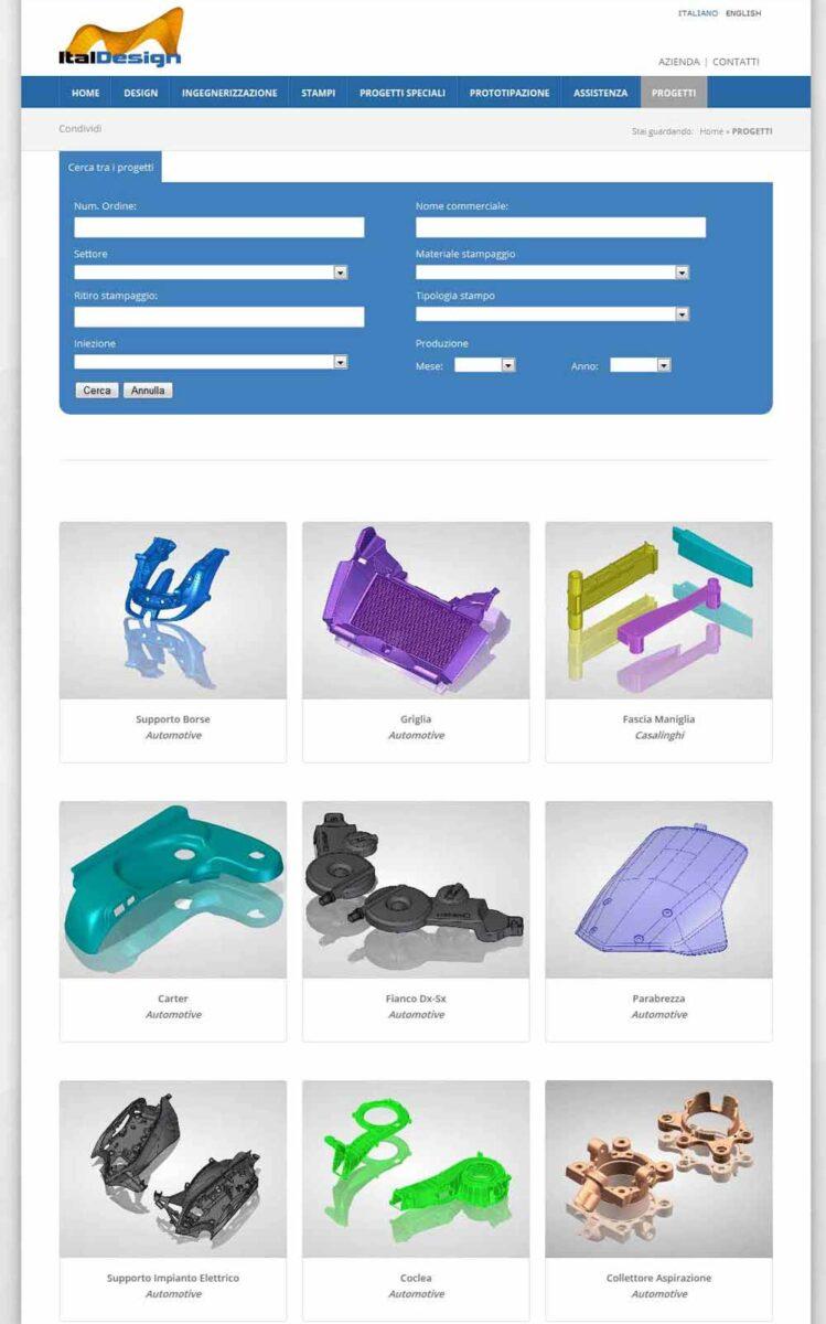 ItalDesign, progettazione stampi per prodotti industriali