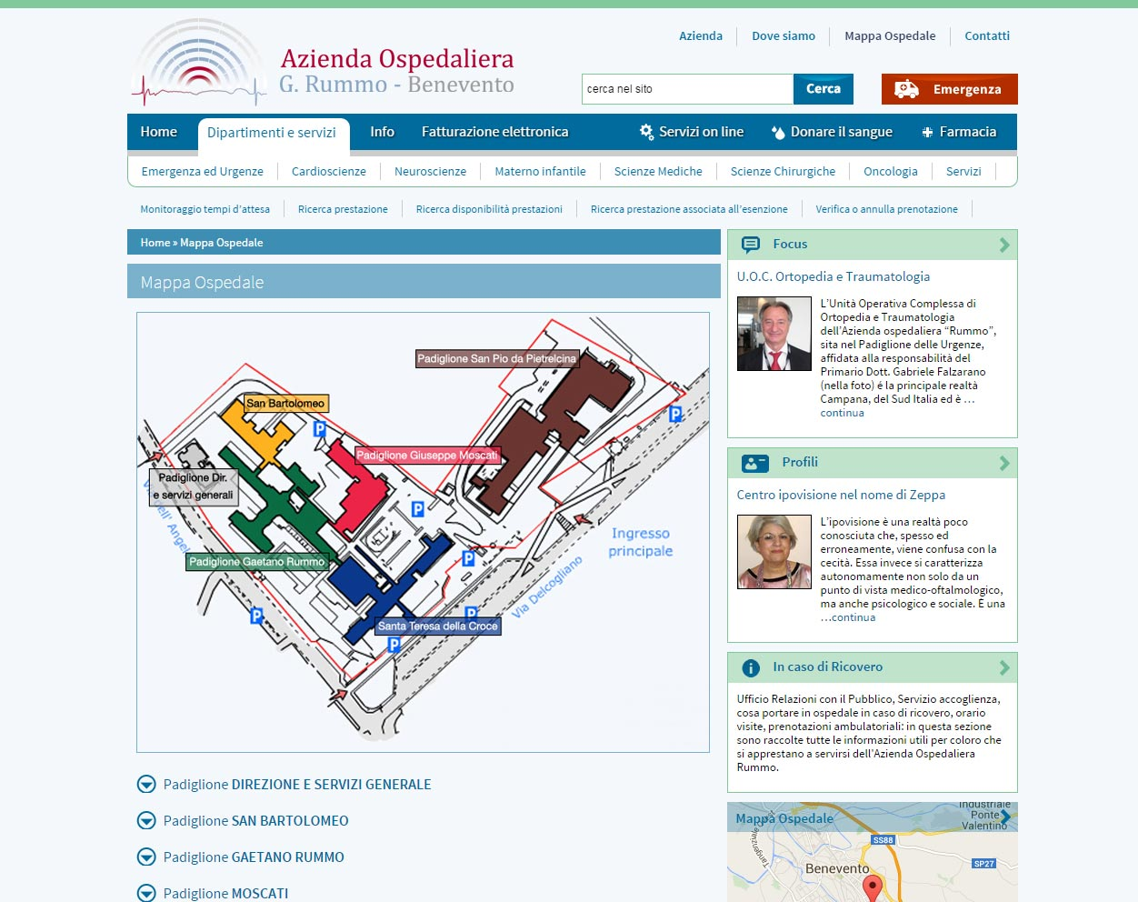 Azienda Ospedaliera Rummo, servizi medici accessibili
