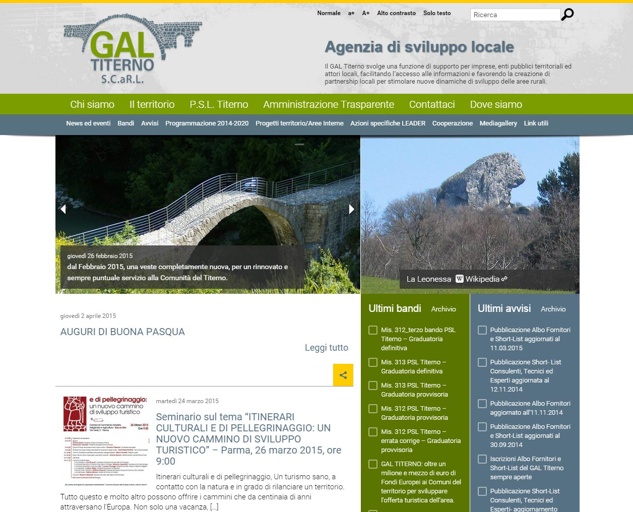 GAL Titerno, promozione del territorio