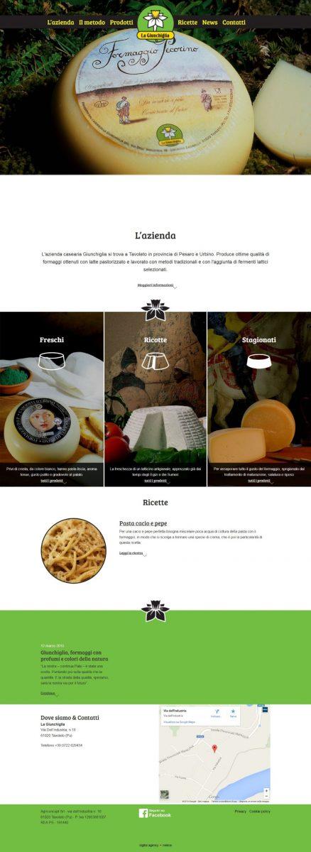 La Giunchiglia, catalogo prodotti caseari