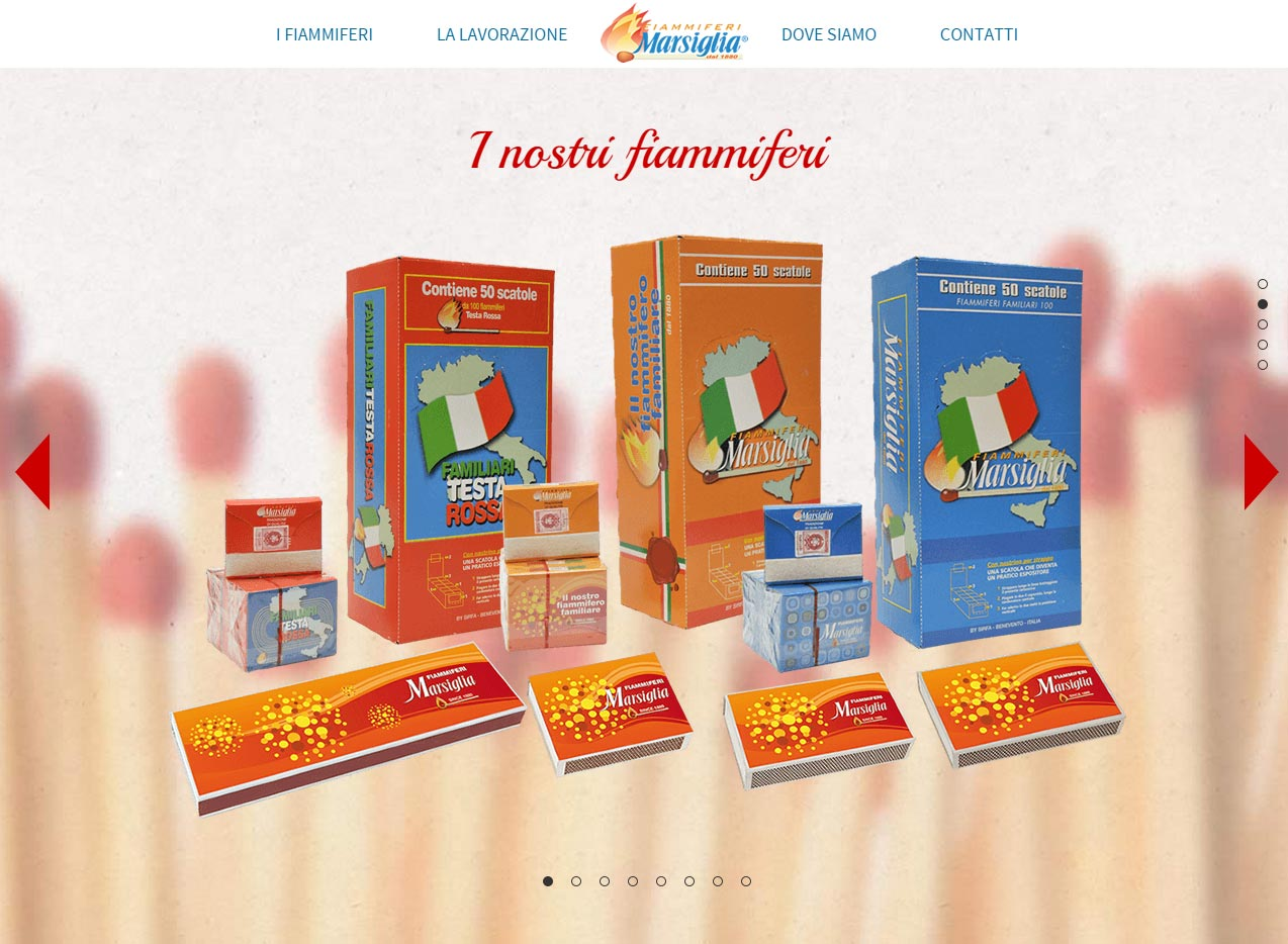Sirfa srl, onepage site