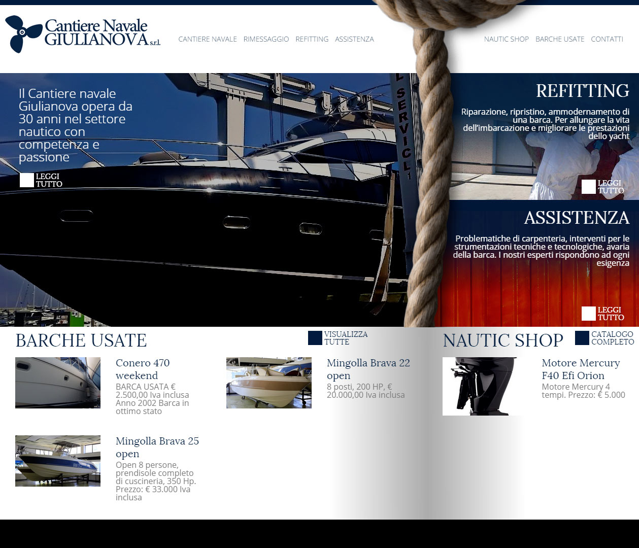 Cantiere Navale Giulianova, catalogo online imbarcazioni