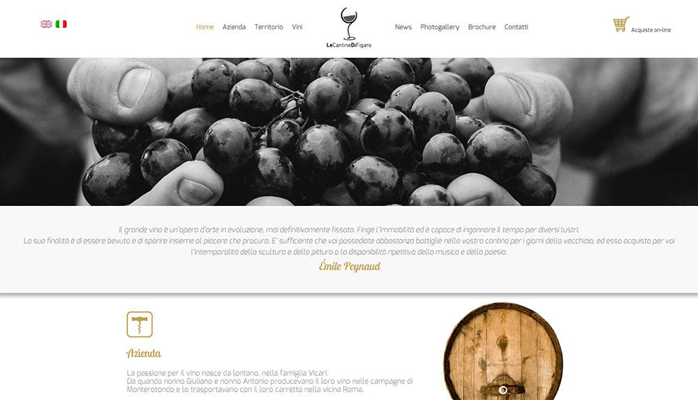 Le Cantine di Figaro, catalogo online vini biologici