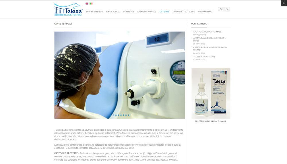 Terme di Telese, ecommerce acque termali