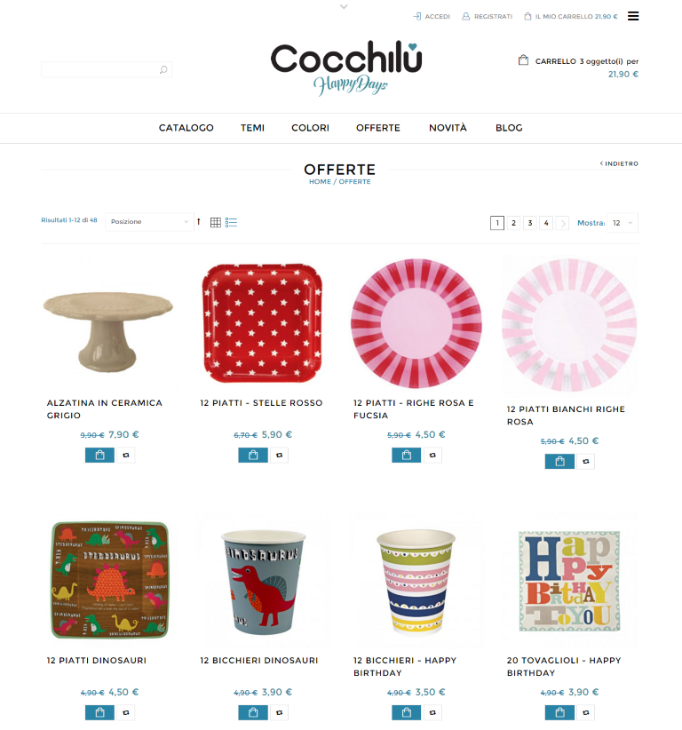 Cocchilù, shop online addobbi e decorazioni per feste