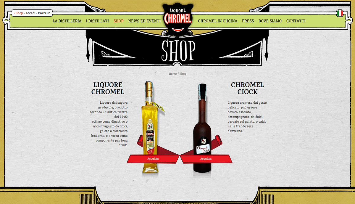 Liquore Chromel, shop online