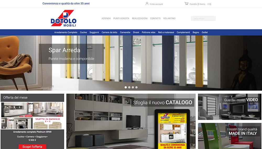 Sito web e commerce arredamento dotolo mobili neikos digital agency - Dotolo mobili foggia ...