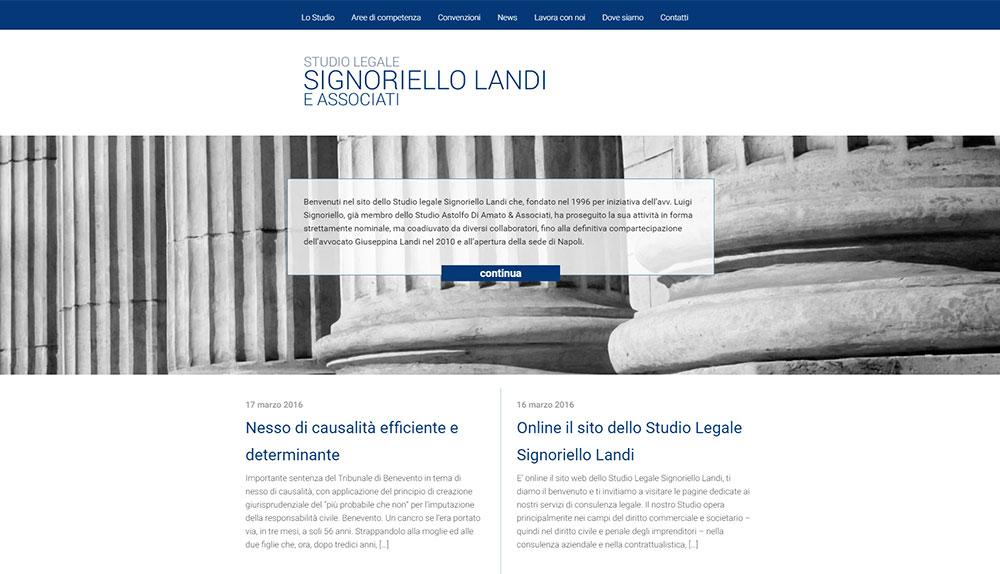 Studio Legale Signoriello Landi, aree di consulenza legale