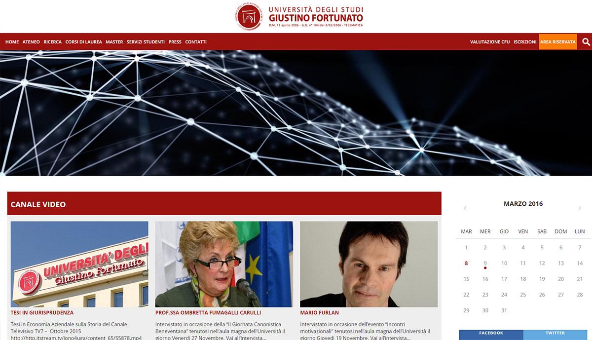Università degli Studi Giustino Fortunato, portale universitario