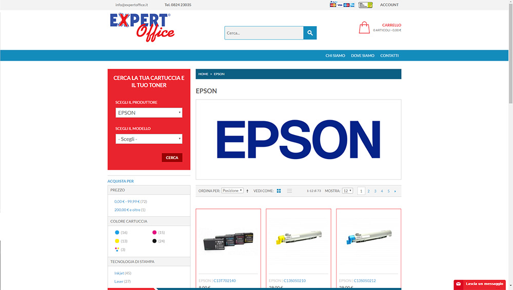 Expert Office, ecommerce cartucce e toner