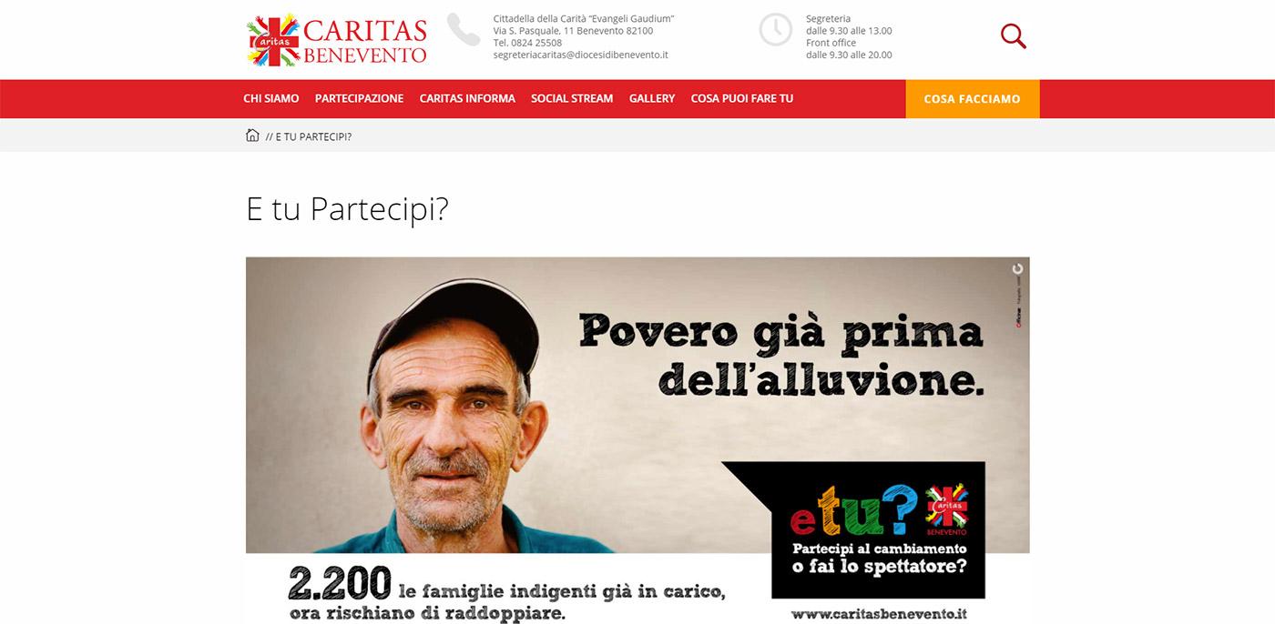 Caritas Benevento, catalogo online servizi assistenziali