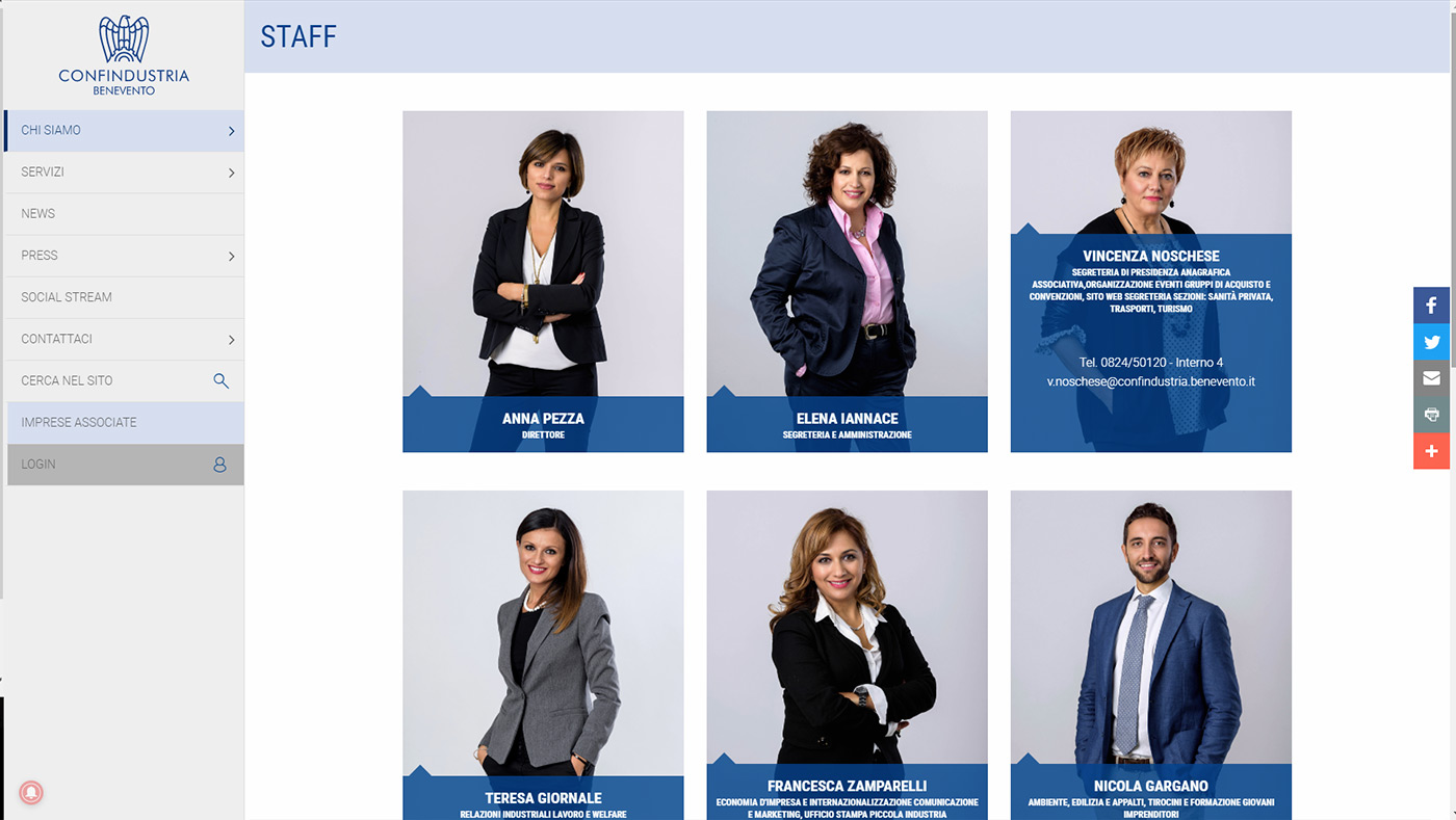Confindustria, portale imprese