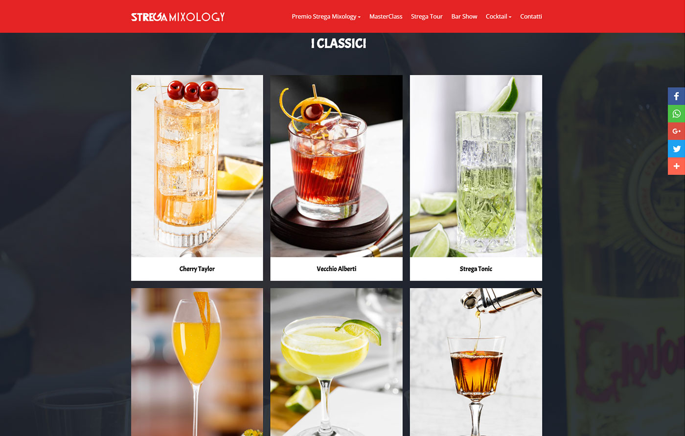 Strega Mixology, brand events online