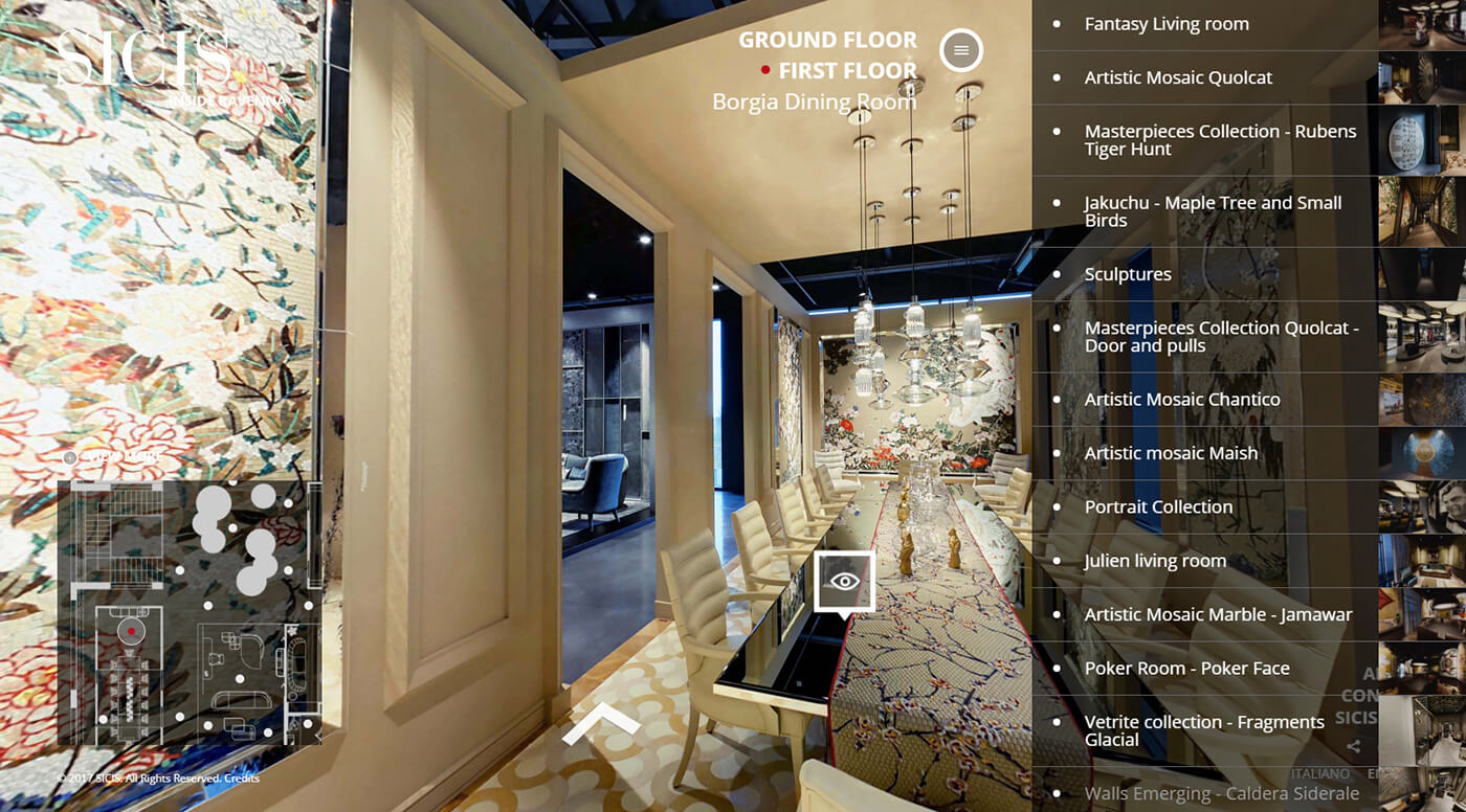Interactive Virtual Tour 360°