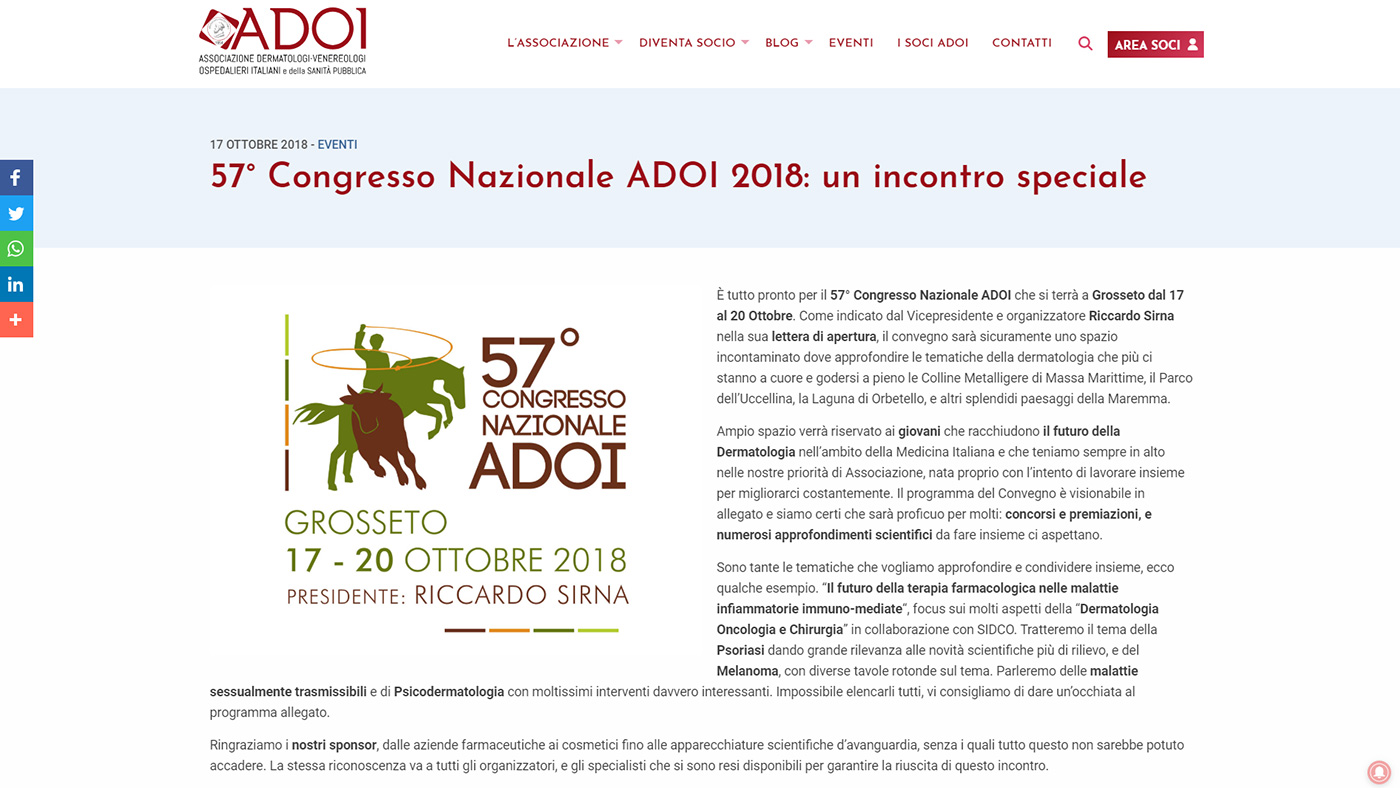 ADOI, portale associazione dermatologi