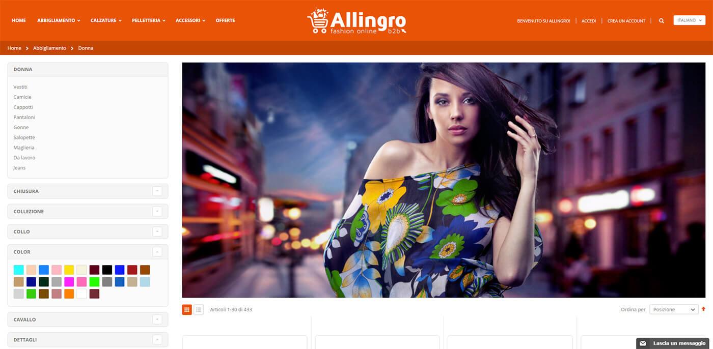 Allingro, fashion online B2B