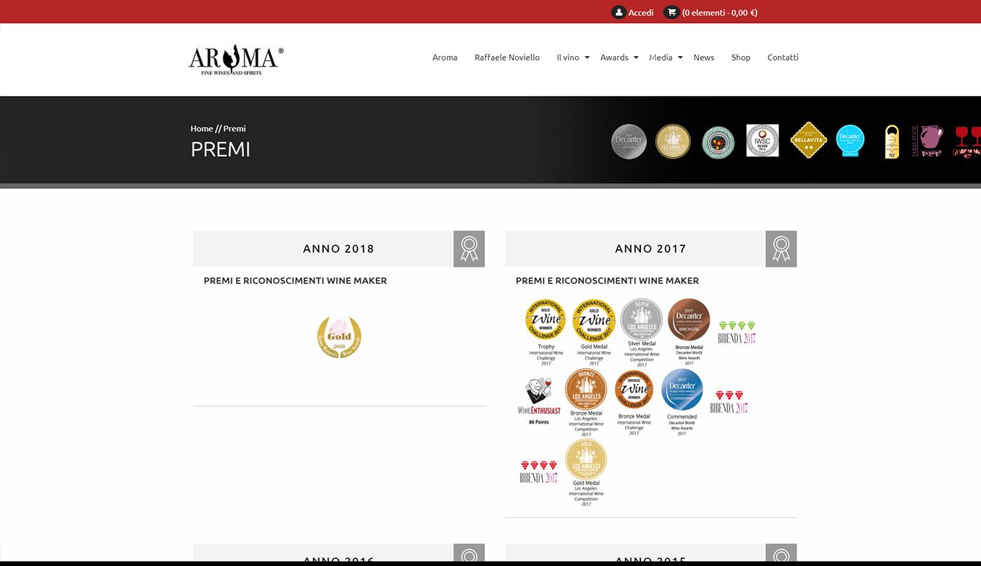 Aroma, winery web e shop