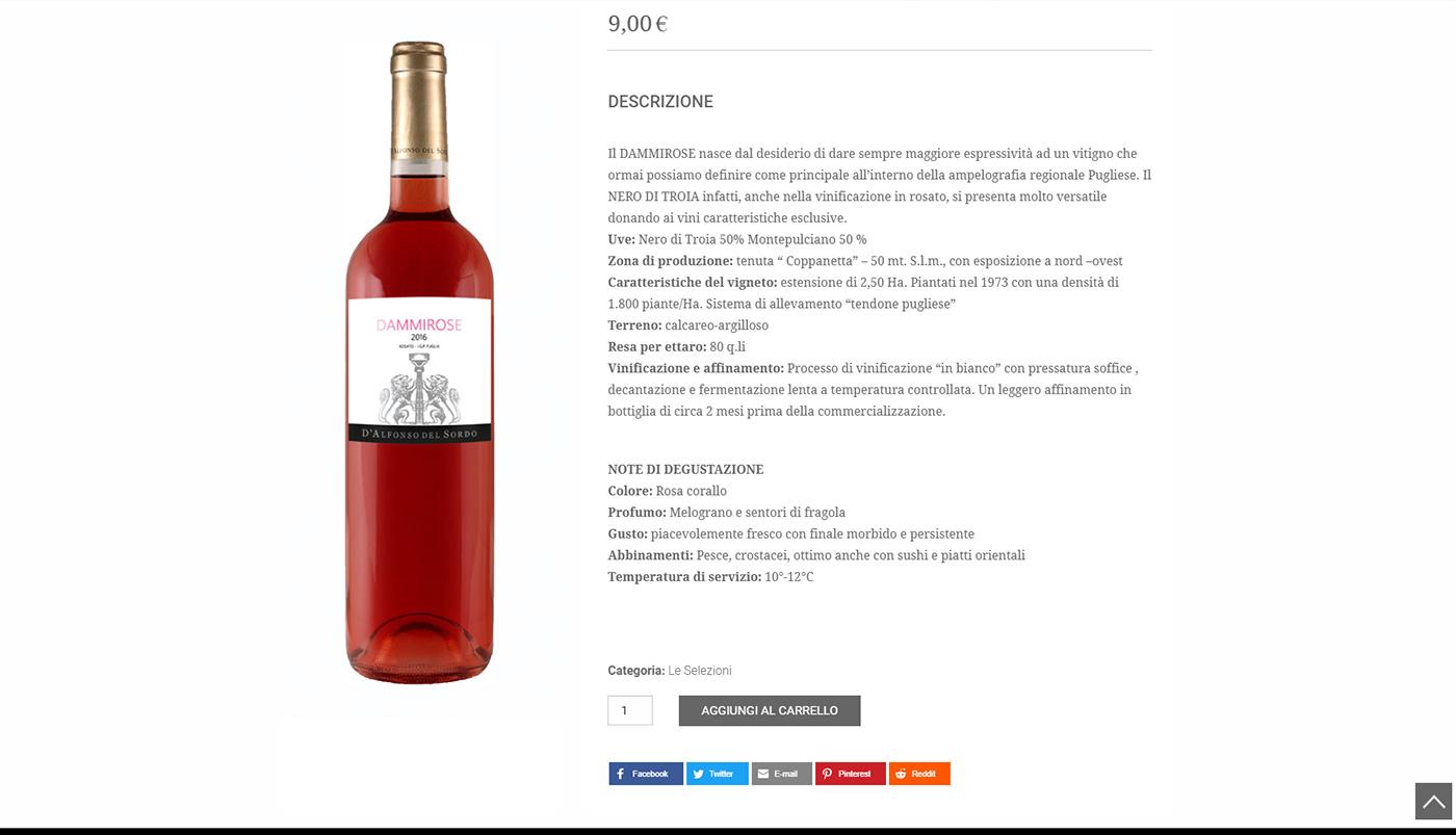 Cantine D'Alfonso Del Sordo, winery shop