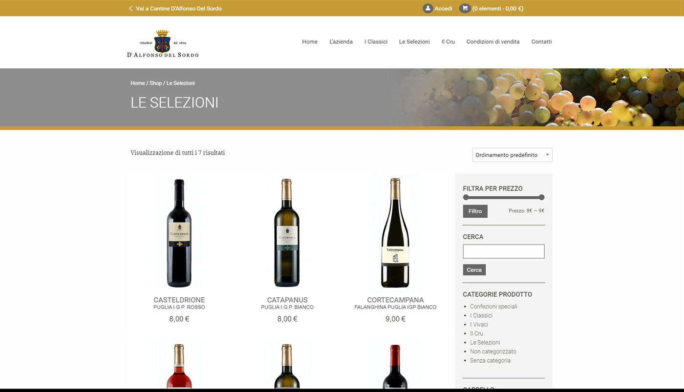 Cantine D'Alfonso Del Sordo, winery shop