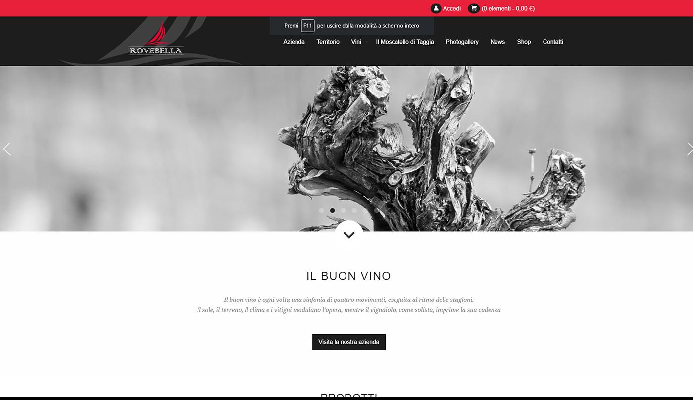 Rovebella, winery web e shop