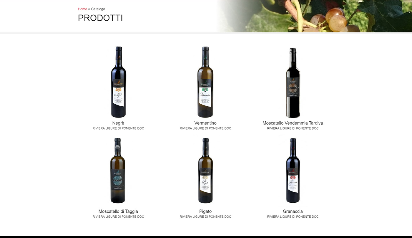 Rovebella, winery web e shop