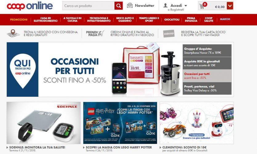 Coop online homepage