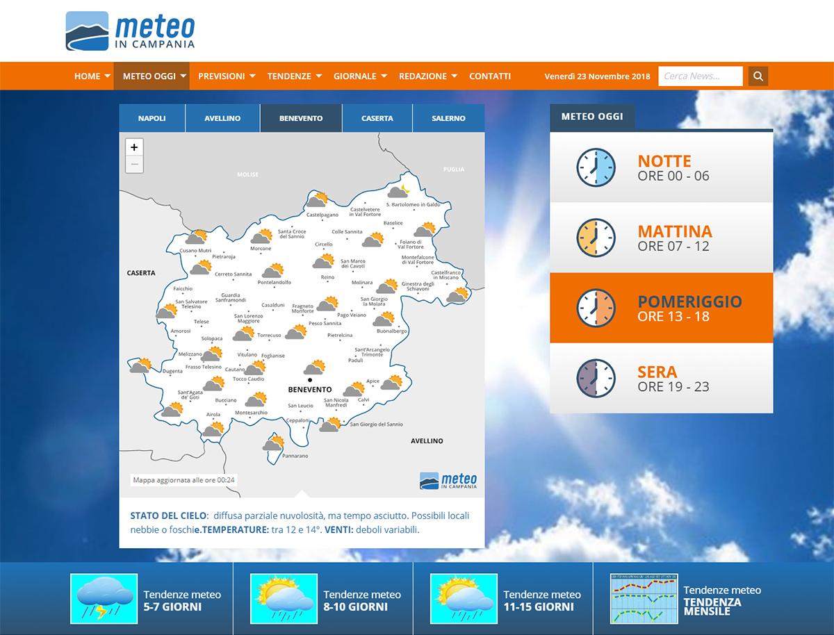Meteo in Campania, Progressive Web App