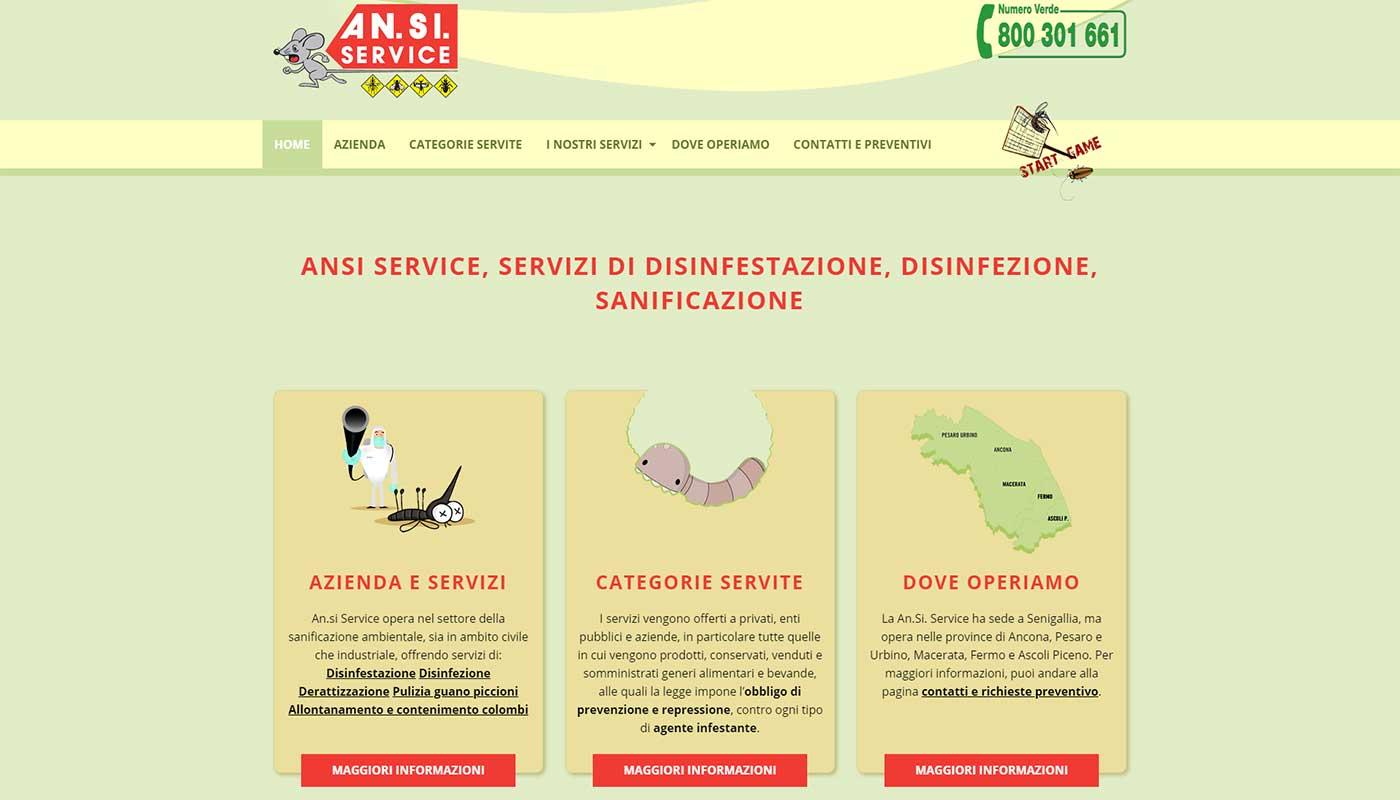 Ansi Service, catalogo online servizi di disinfestazione