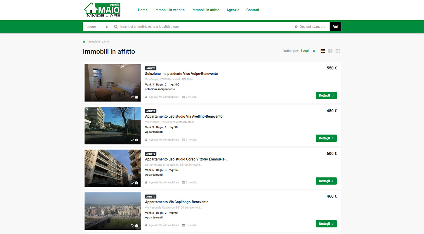 Maio immobiliare - immobili in affitto