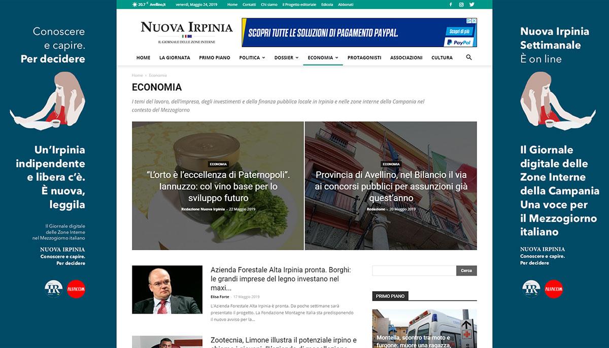 Nuova Irpinia economia