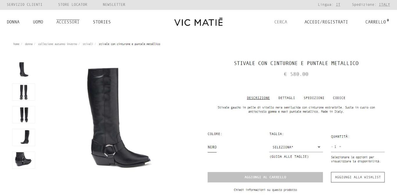 Vic Matié, ecommerce