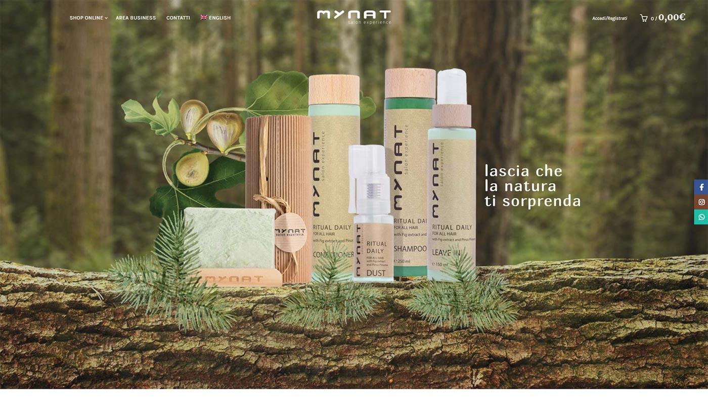 MyNat ecommerce cosmetici per capelli